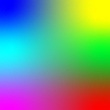 square of a multi-color gradient that shows most colors