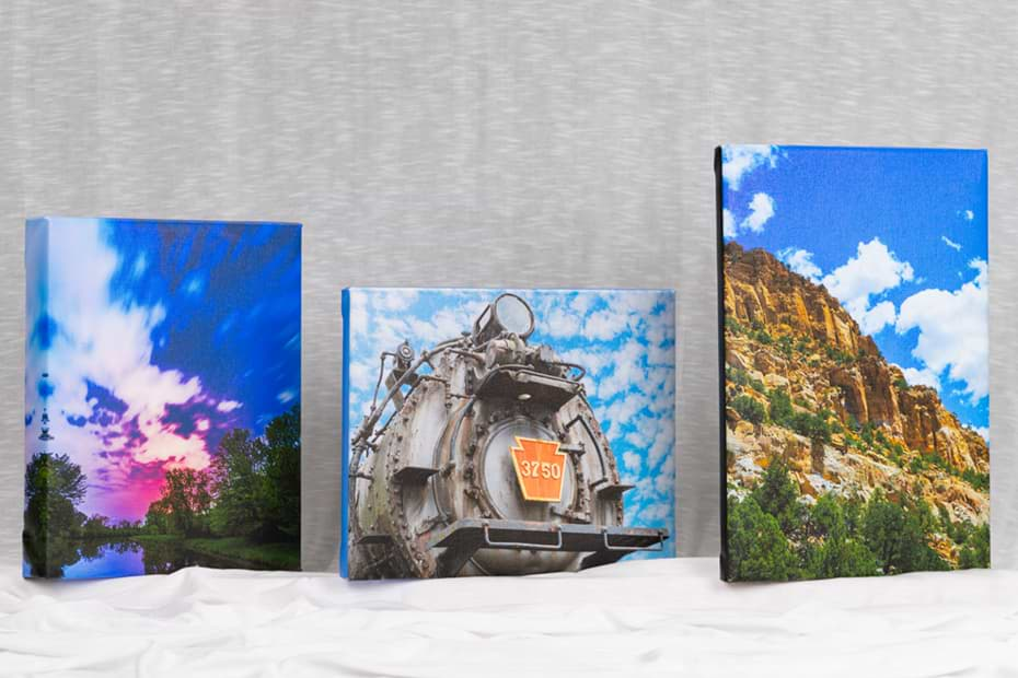 photo three giclee canvases