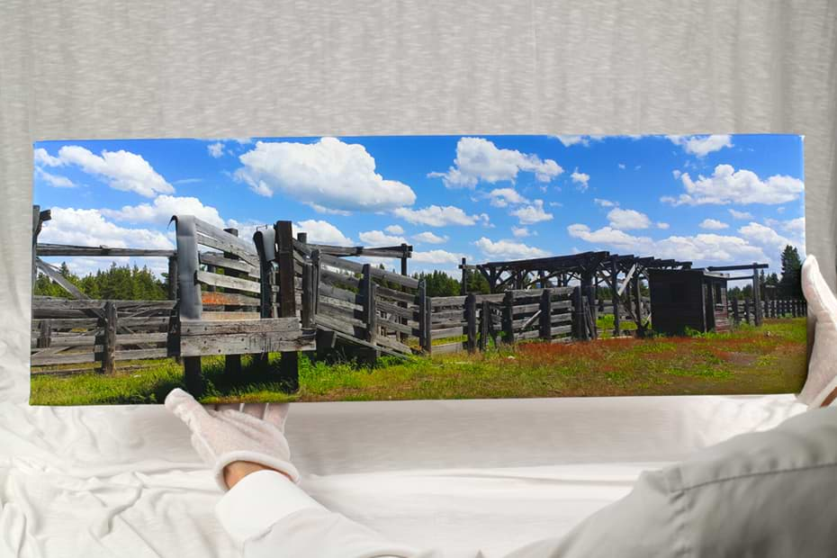 10 by 30 inch panoramic canvas print