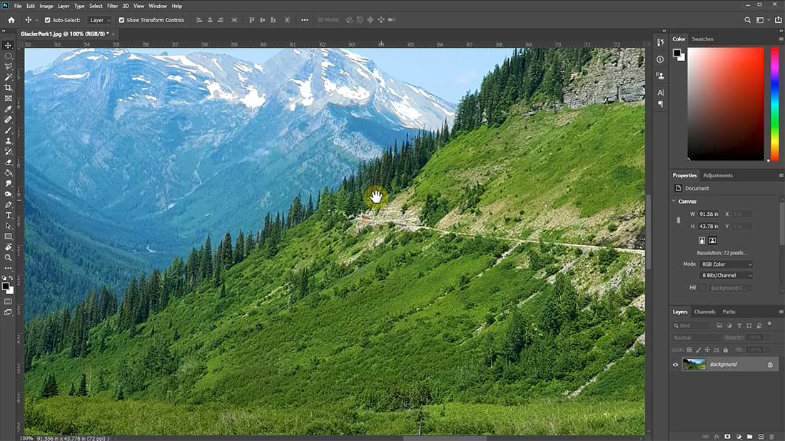 checking for image sharpness in Photoshop